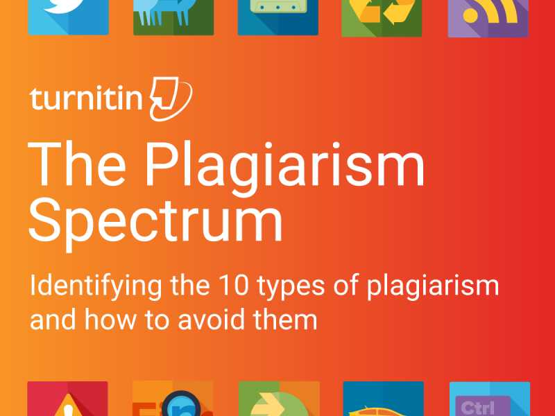 the plagiarism spectrum turnitin